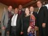 KLEINMOND, SOUTH AFRICA - JUNE 21: Minister of Health, Aaron Motsoaledi, with Christoph Benn (The Global Fund), Katherine Marshall (WFDD), Jean-François de Lavison (Ahimsa Fund), Anglican Archbishop Thabo Makgoba and Dr Renier Koegelenberg (EFSA).
