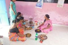 13) VHC member Shelpada made a paratha on local leafy vegitable