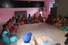 9) Village Health Committee member discussed with diet pyramid