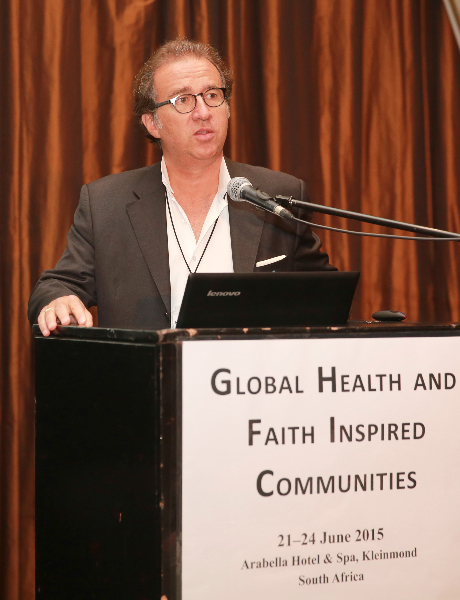 KLEINMOND, SOUTH AFRICA - JUNE 22: Jean-François de Lavison, President and Founder of AHIMSA, at the Conference on Global Health and Faith Based Communities on June 22, 2015 in Kleinmond, South Africa. The Conference on Global Health and Faith Based Communities is hosted by the Ecumenical Foundation of Southern Africa (EFSA) in partnership with the Ahimsa Roundtable (France) and World Faiths Development Dialogue (Washington-DC). [Other sponsors include The Global Fund, World Vision, UnitAid, Gavi, Brot für die Welt, Sanofi Pasteur, The Handa Foundation, Fondation Raja, Ahimsa Partners and Thelem.] The Conference, with more than 100 delegates from approximately 30 countries, runs from 21-24 June 2015 at the Arabella Hotel & Spa, Kleinmond, Western-Cape, South Africa. (Photo by Gallo Images / Nardus Engelbrecht)