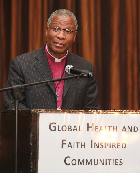KLEINMOND, SOUTH AFRICA - JUNE 21: Anglican Archbishop Thabo Makgoba at the Conference on Global Health and Faith Based Communities on June 21, 2015 in Kleinmond, South Africa. The Conference on Global Health and Faith Based Communities is hosted by the Ecumenical Foundation of Southern Africa (EFSA) in partnership with the Ahimsa Roundtable (France) and World Faiths Development Dialogue (Washington-DC). [Other sponsors include The Global Fund, World Vision, UnitAid, Gavi, Brot für die Welt, Sanofi Pasteur, The Handa Foundation, Fondation Raja, Ahimsa Partners and Thelem.] The Conference, with more than 100 delegates from approximately 30 countries, runs from 21-24 June 2015 at the Arabella Hotel & Spa, Kleinmond, Western-Cape, South Africa. (Photo Nardus Engelbrecht)