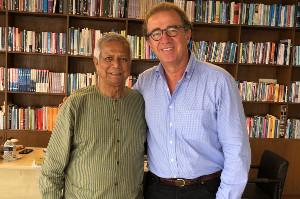 Muhammad Yunus and Jean-François de Lavison