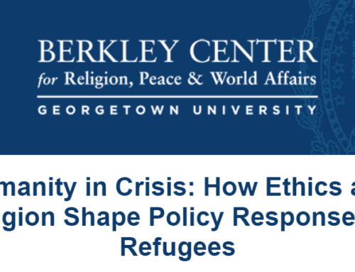 Humanity in Crisis: How Ethics and Religion Shape Policy Responses to Refugees